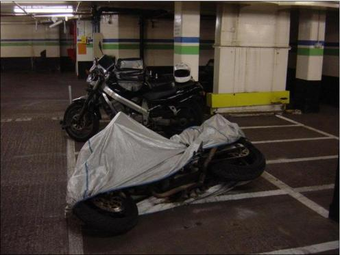 Bike in Queensway car park.