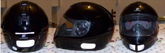Helmets with stickers