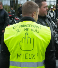 High-viz jacket protest