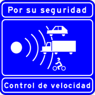Spanish speed sign