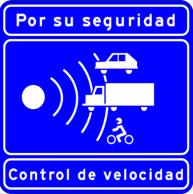 Spanish speed sign