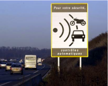 French speed sign
